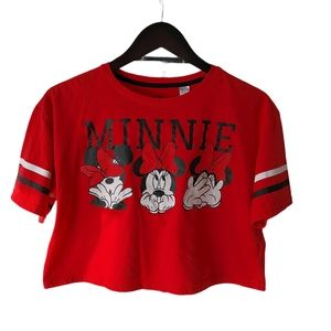 🌸3/$30🌸 Minnie Mouse crop top size large red
